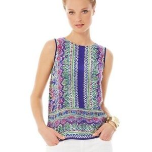 Lilly Pulitzer Iona Shell in Bright Navy Not Catty